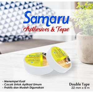 Samaru Tape - Double Tape 22 Mm - White- Tape Adhesive