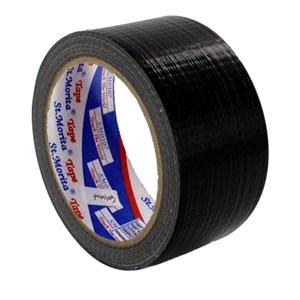 St Morita Tape - Cloth Tape - Lakban Kain 24 Mm - Black-Tape Adhesive