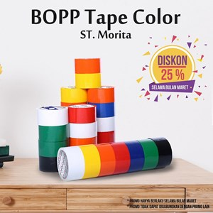 Bopp Adhesive Tapes - St. Morita - Opp Tape 45 Mic - Lakban 48 Mm X 91 M - Red