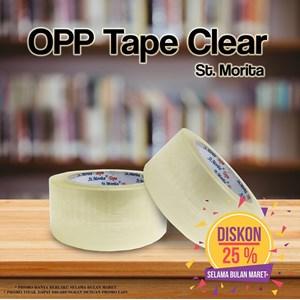 Bopp Adhesive Tapes - St. Morita - Opp Tape 43 Mic - Lakban  48 Mm X 82 M -Transparent/Clear