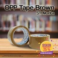 Bopp Adhesive Tapes - St. Morita - Opp Tape 43 Mic - Lakban  48 Mm X 91 M - Brown 1