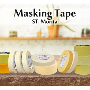 St. Morita - Masking Tape General  24 Mm - Yellow- Tape Adhesive
