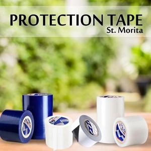 St. Morita - Protection Tape 350 Gram- 80 Micron - Black &White Tape Adhesive