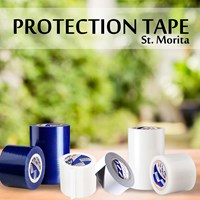 St. Morita - Protection Tape 350 Gram- 100 Micron - Black & White Tape Adhesive 1