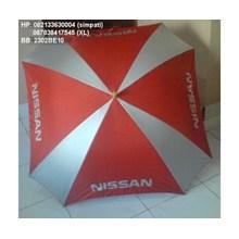 Payung golf kotak promosi logo nissan