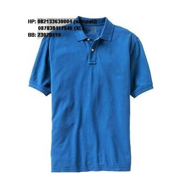 Kaos krah promosi merk C 59 warna biru