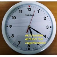 Promotional white color wall clock 32 cm diameter