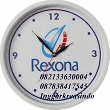 Jam dinding promosi logo Rexona