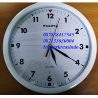 Nagoya brand promotion wall clock white