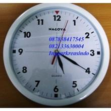 Jam dinding promosi merk nagoya warna putih