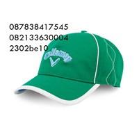 Topi bordir bahan rafel promosi hijau  1