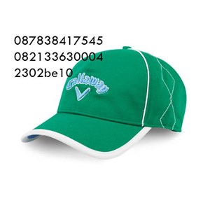 Topi bordir bahan rafel promosi hijau