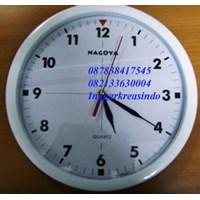 Jam dinding promosi warna putih Nagoya 1