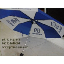 Umbrella fold three promotional logo BRI