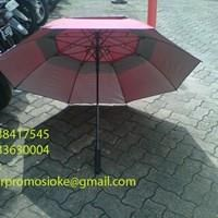 Jual Payung golf  fiber promosi warna merah marun 2