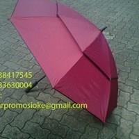 Payung golf  fiber promosi warna merah marun 1