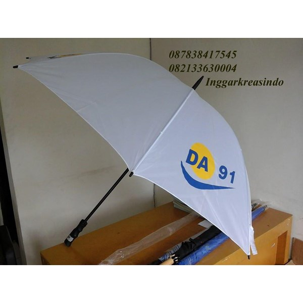 Promotional golf umbrella white
