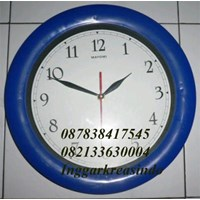 Promotional wall clock blue print company logo