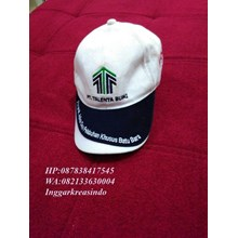 Topi golf promosi putih biru