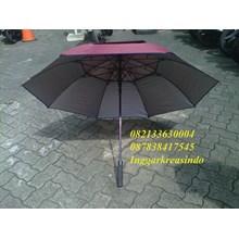 Payung golf  fiber promosi warna merah marun 02