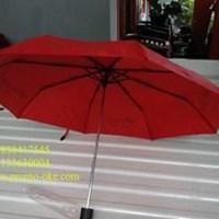 Red folding umbrella