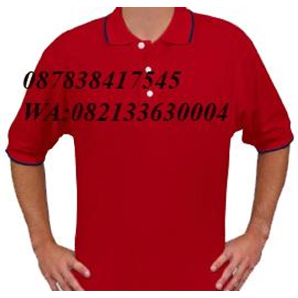 Shirt collar in red