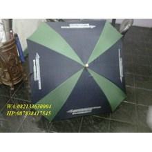 Payung golf kotak promosi hijau hitam