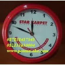 Jam dinding promosi merah 03
