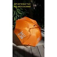 Orange golf umbrella