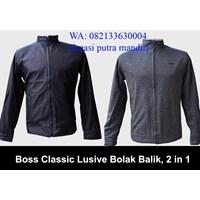 Jaket boss clasic bahan katun