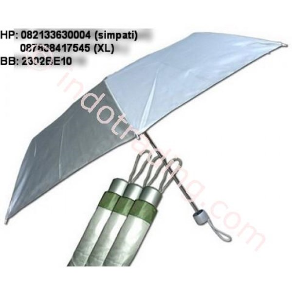 3 Fold Umbrella Silver
