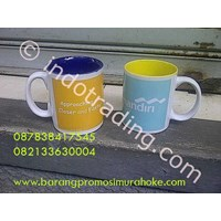 Coating Mug Warna Yellow And Blue