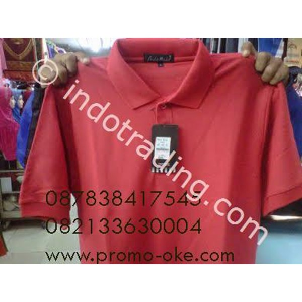Polo Shirt Katun Andrew Michele Merah Promosi