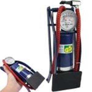 Pompa Inflator Portabel Foot Dioperasikan Cylinder Tire