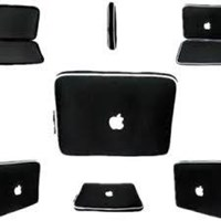Laptop Sleeve Carrying Case Bag For Apple-Black