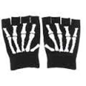 Half Finger Skull Style Knitted Gloves