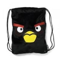 Jual Tas Sekolah Black Bird Drawstring Backpack