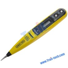 None Contact 12-220V Ac Dc Digital Lcd Display Voltage Pen Tester ( Voltase Meter )