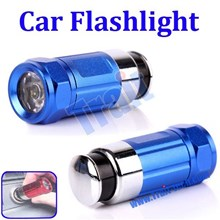 Blue Led Flashlight Rechargeable Car Flashlight ( Aksesoris Mobil )
