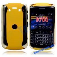 Chrome Back Hard Case For Bb Bold 9700-Yellow ( Aksesoris Handphone )