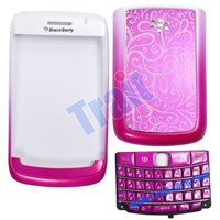 Full Housing Keyboard With Battery Door Cover For Bb Bold 9700-Hot Pink ( Aksesoris Handphone )
