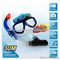 2.0Mp Underwater Camcorder Scuba Diving Mask Bulit In 4Gb Memory 20M Water Reslstant Dark Blue ( Kamera Digital ) 1