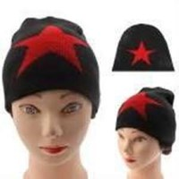 Jual Five-Pointed Star Style Woolen-Knitting Winter Hedging Cap (Topi)