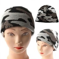 Jual Camouflage Style Woolen-Knitting Winter Hedging Cap ( Topi )