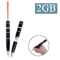 3 In 1 Laser Pen Style Usb Flash Disk 2Gb (Black)