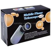 6X Zoom Mobile Phone Telescope + Crystal Case For Samsung Galaxy S Ii I9100 ( Aksesoris Handphone )