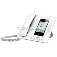 Anti-Radiation Telephone Landline With 3W Speaker & Charge Dock Function For Iphone 4 & 4S ( Aksesoris Handphone )