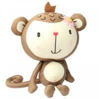 Jual Cute Monkey Style Qee Car Decoration Toy Gift With Suction Cup Brown ( Mainan Bayi )