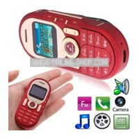 Jual Mini 288 Red Luxury Fashion Mini Music Mobile Phone With Camera ( Handphone )
