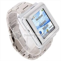 Jual Ak810a Stainless Wteel Watchband Watch Mobile Phone ( Handphone )